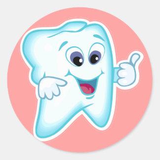 Higienista dental etiquetas redondas