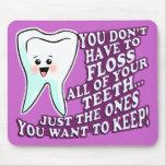 Higienista u Orthodontist del dentista Tapetes De Ratones