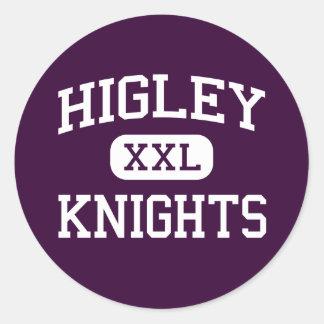 Higley - Knights - High School - Gilbert Arizona Classic Round Sticker