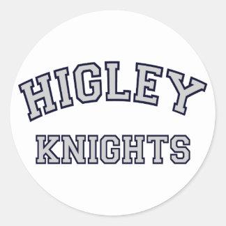 Higley Knights Classic Round Sticker