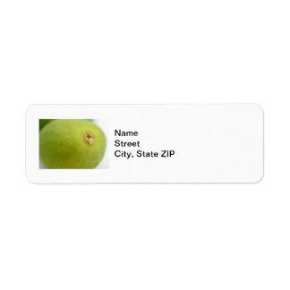 Higo verde etiqueta de remite
