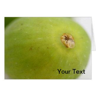 Higo verde tarjeta pequeña