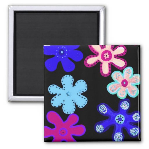 HiHo Flowers Refrigerator Magnets