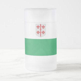 Hiiu Flag Frosted Glass Beer Mug