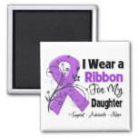 Hija - cinta del cáncer pancreático iman de nevera