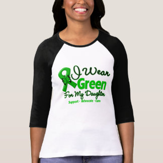 Hija - cinta verde de la conciencia camiseta