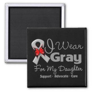 Hija - conciencia gris de la cinta imán cuadrado