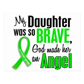 Hija de la distrofia muscular del ángel 1 postal