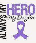 Hija de la linfoma de Hodgkin siempre mi héroe Camiseta