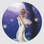 Hija de la luna pegatina redonda