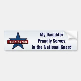 Hija de la mamá de la estrella azul en Guardia Pegatina Para Auto