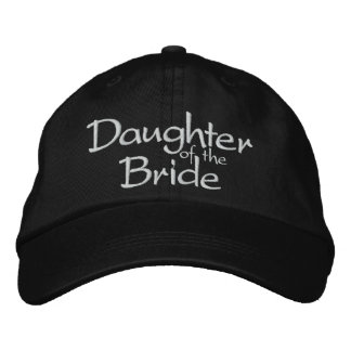 Hija de la novia bordada casando el casquillo gorras de béisbol bordadas