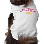 Hija de la novia camisa de mascota