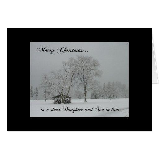 Hija de las Felices Navidad/escena del Tarjeta De Felicitación