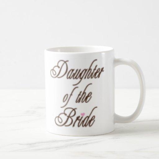 Hija de los marrones con clase de la novia taza de café