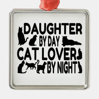 Hija del amante del gato ornamentos de reyes magos