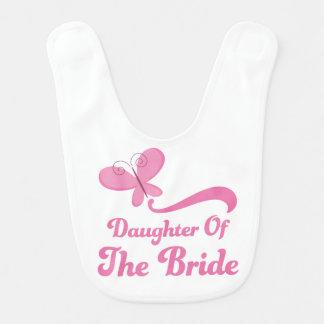 Hija del babero del bebé de la novia