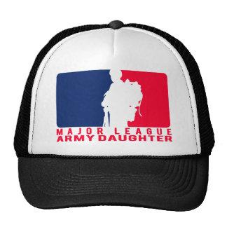 Hija del ejército de la primera división gorros bordados