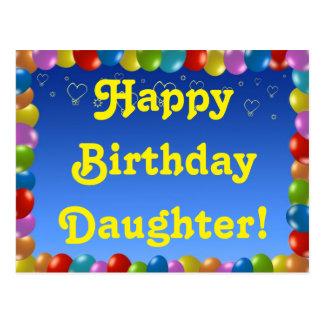Hija del feliz cumpleaños de la postal