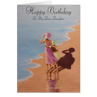 Hija del feliz cumpleaños, tarjeta de felicitación