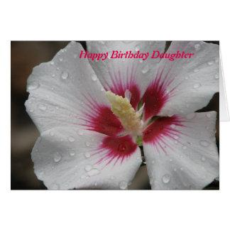 Hija del feliz cumpleaños tarjeta de felicitación
