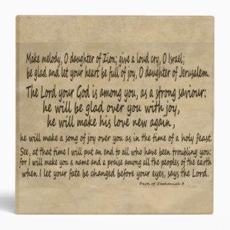 """Hija del manuscrito de la vitela de Zephaniah 3 de Carpeta 2"""""""