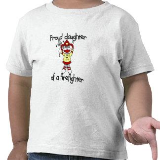 Hija del mono del bombero camisetas