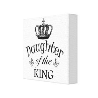Hija del rey Quote Impresion En Lona