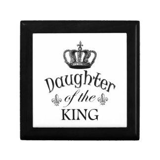 Hija del rey Quote Joyero Cuadrado Pequeño