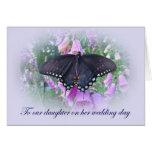 Hija en su día de boda tarjeta de felicitación