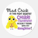 Hija enojada de la malformación de Chiari del poll Pegatina