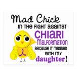 Hija enojada de la malformación de Chiari del poll Tarjetas Postales