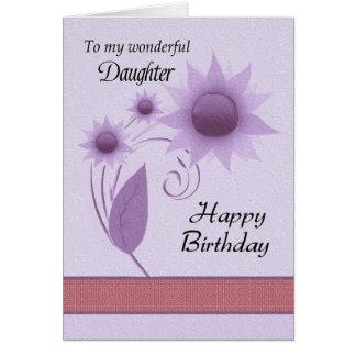 Hija - feliz cumpleaños - Digitaces florales Tarjeta De Felicitación