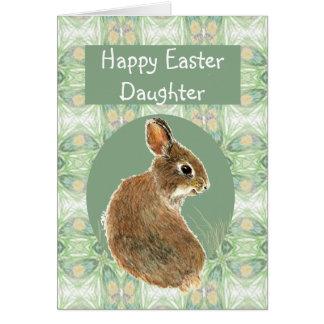 Hija feliz de Pascua de la diversión con el Tarjeta De Felicitación