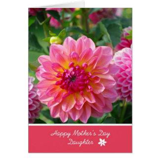 Hija feliz del día de madre tarjeta de felicitación
