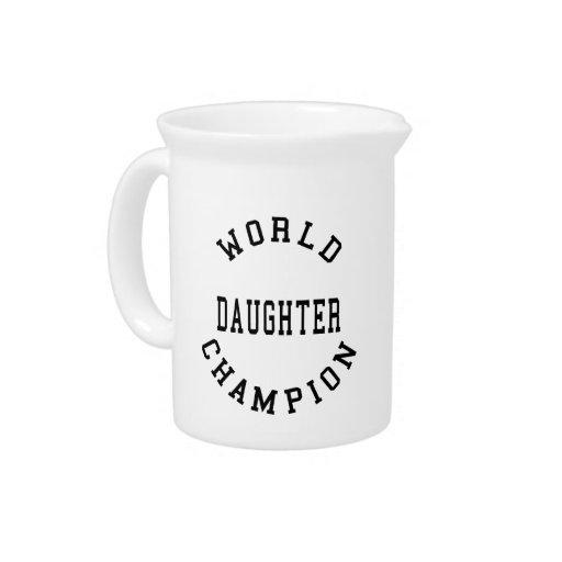 Hija fresca retra del campeón del mundo de los reg jarra para bebida