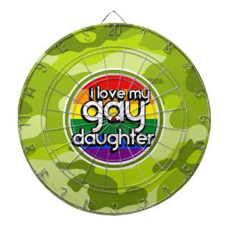 Hija gay; camo verde claro, camuflaje tablero de dardos