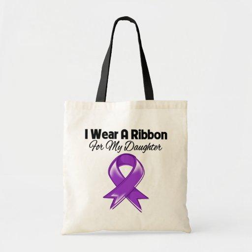 Hija - llevo la cinta púrpura bolsas