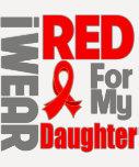 Hija - llevo la cinta roja camisetas