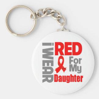 Hija - llevo la cinta roja llavero personalizado