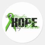 Hija mi héroe - esperanza del linfoma pegatinas redondas