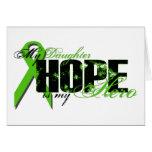 Hija mi héroe - esperanza del linfoma tarjeta