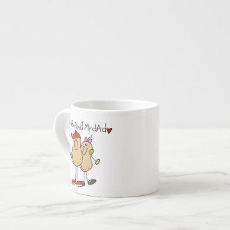 Hija - nueces sobre mis camisetas y regalos del pa taza espresso