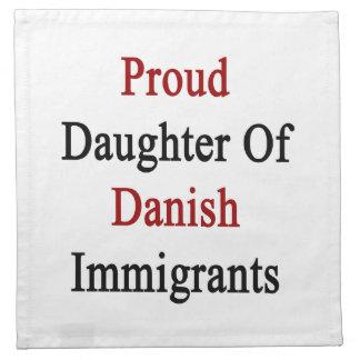 Hija orgullosa de inmigrantes daneses servilleta de papel