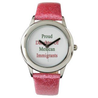 Hija orgullosa de inmigrantes mexicanos relojes de mano