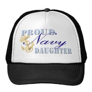 Hija orgullosa de la marina de guerra gorras