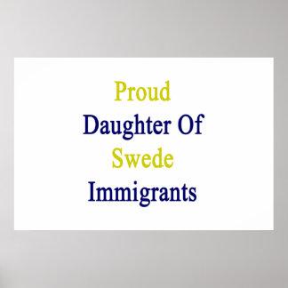 Hija orgullosa de los inmigrantes sueco póster