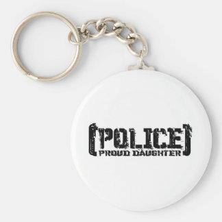 Hija orgullosa - POLICÍA hecha andrajos Llaveros Personalizados