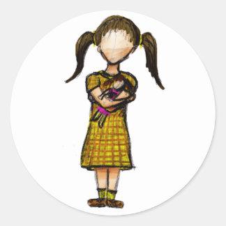 Hija Round Sticker
