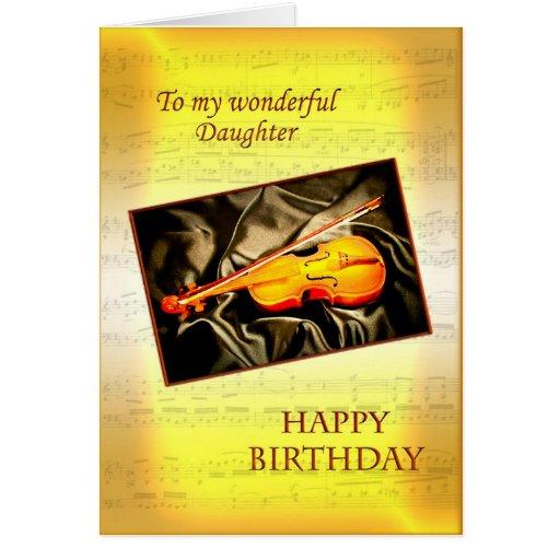Hija, una tarjeta de cumpleaños musical con un